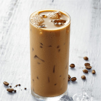 iced vanilla latte homemade syrup aberdeens kitchen